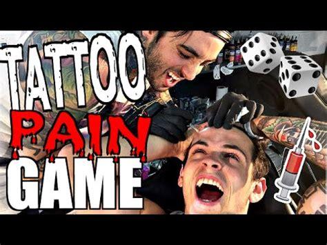 tattoo pain games tattoo pain game ft the janoskians youtube