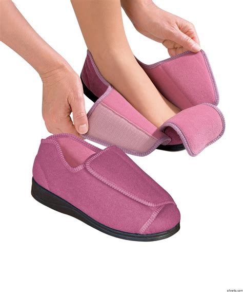 womens wide width adaptive slippers