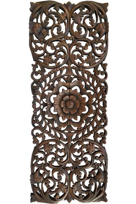 floral wood carved wall panel wood wall decor  sale