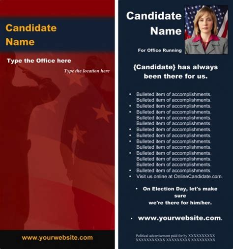 political brochure template new political brochure templates available from