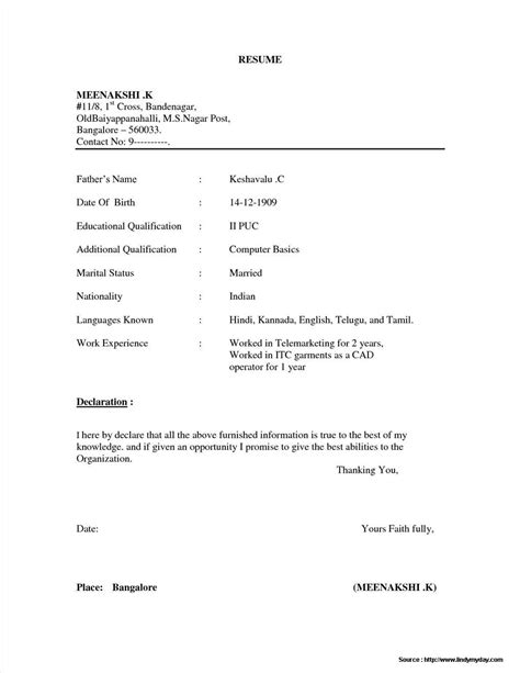 simple resume format word file resume resume