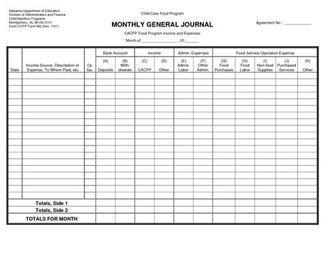 printable general journal paper the gallery for gt chart of accounts template excel