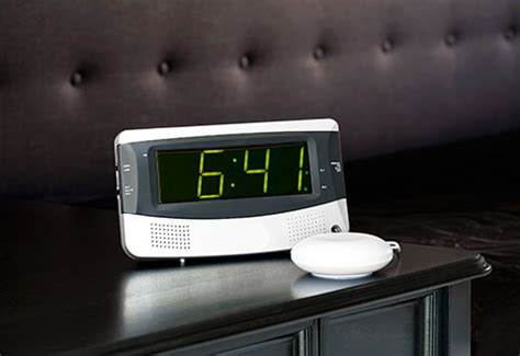 alarm clock  heavy sleepers  sharper image