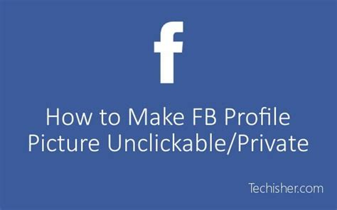 how to make profile picture unclickable