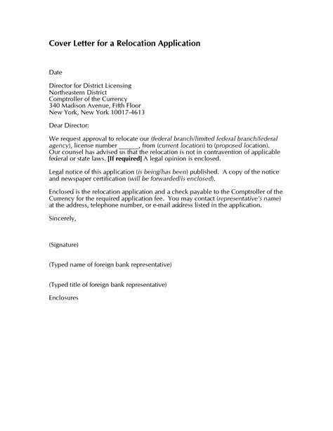 Cover Letter Relocation Exles by 10 Relocation Cover Letter Exles For Resume Writing Resume Sle Writing Resume Sle