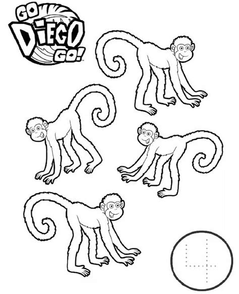 ten little monkeys coloring page 10 little monkeys coloring page coloring pages
