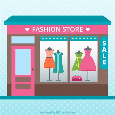 fashion clothing store color vector free
