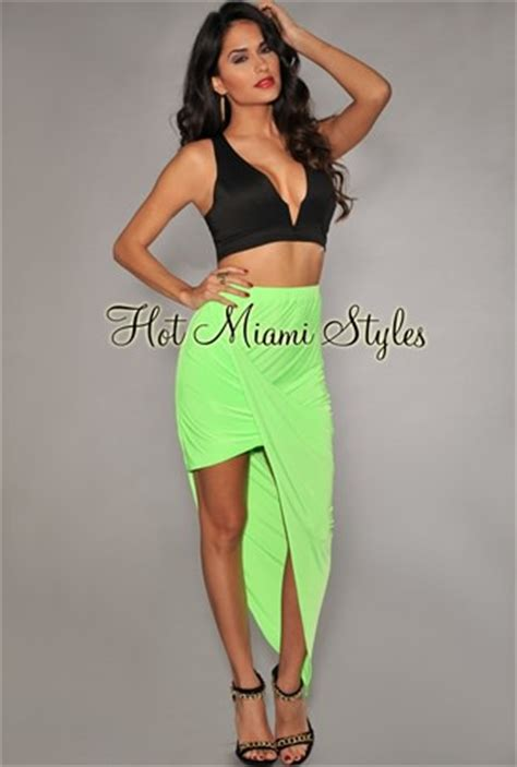 ruched asymmetrical draped skirt neon lime ruched asymmetrical draped jersey skirt