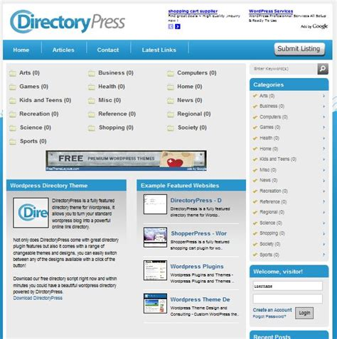 theme wordpress listing best directory wordpres themes for directory websites