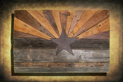 arizona woodworking barn wood arizona flag handmade distressed wood