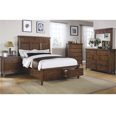 mango king size storage platform bed modern bedroom furniture
