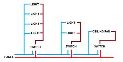 wiring lights and switches on one circuit diagram