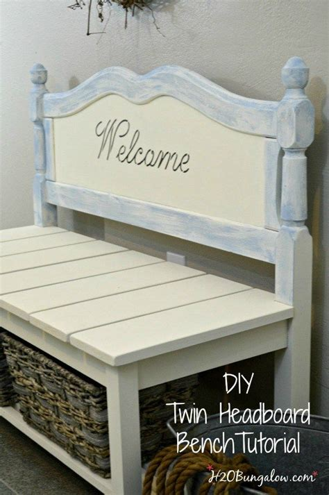 diy bench from headboard 25 best ideas about headboard benches on pinterest