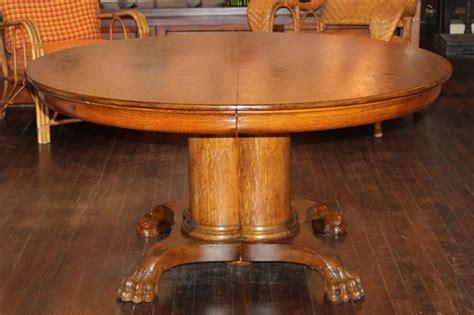 large antique oak pedestal dining table  stdibs