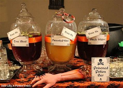 halloween drink names 19 best images about horror themed party on pinterest