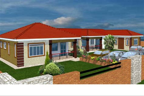 Garage With Living Space by Build A Spacious Two Bedroomed House Daily Monitor