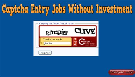 Free Online Work From Home Without Investment - online captcha entry jobs without investment download free