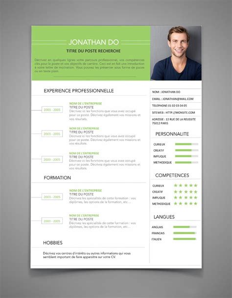 model cv 25 best exemple de cv ideas on un exemple de