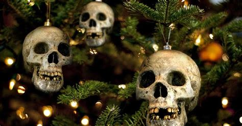 creepy christmas decorations for the festive goth