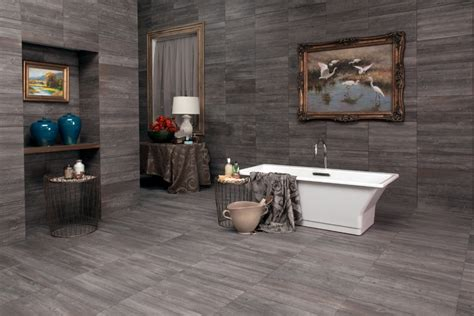 Daltile Subway Fliese by Interceramic Sunwood Centennial Gray 5 Quot X 24 Quot Ceramic Tile