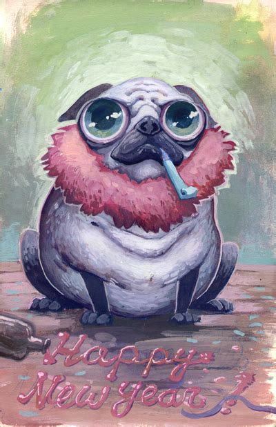 new year pug new year pug by biffno on deviantart