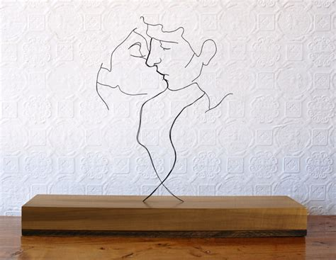 Wall Bookshelf by Gavin Worth Wire Sculpture