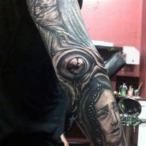 eyeball tattoo on elbow 30 elbow tattoos for men