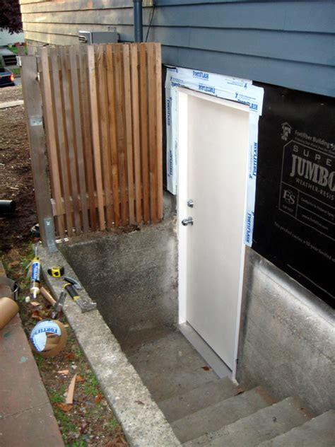 exterior basement door exterior process chezerbey