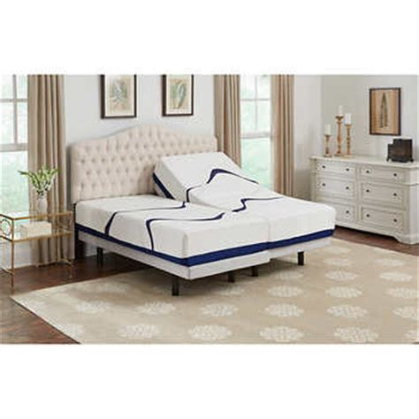 leggett platt brookwood 12 quot split cal king gel memory foam mattress with adjustable base