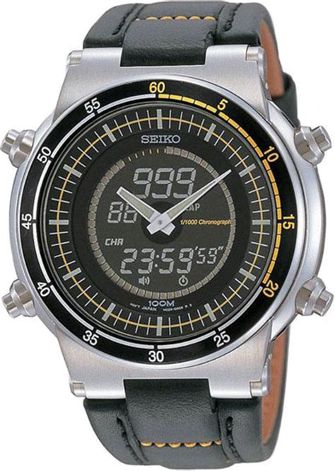 seiko snj023p2 mens retro analog digital alarm