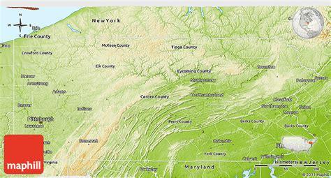 pennsylvania physical map physical 3d map of pennsylvania