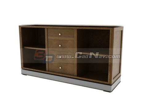living room side cabinet 3d model 3dmax files free