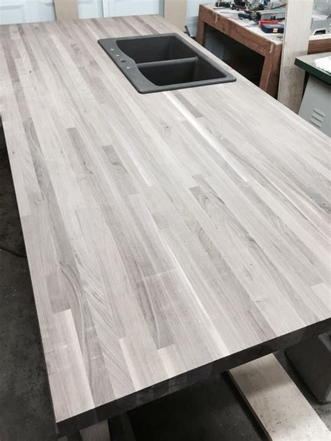 Staining Butcher Block Countertops by Custom Butcher Block Countertop For Island By