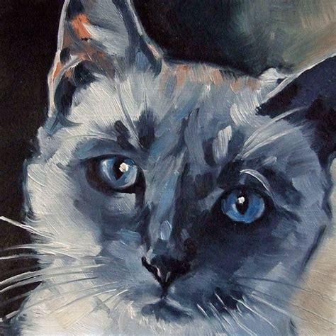 painting for cats paintings from the blue eyed siamese cat