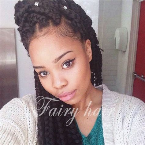 Jumbo Box Braids Style   Braids for Black Women