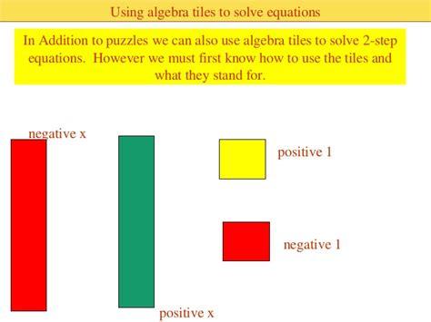 algebra tiles template solving two step equations using algebra tiles