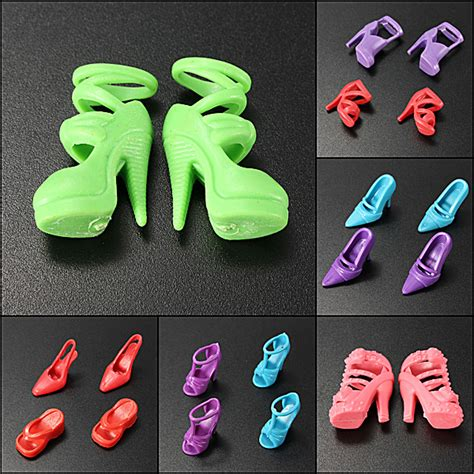 fashion doll shoes 10 pairs fashion dolls heels shoes sandals for doll