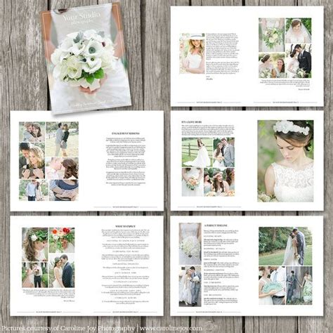 wedding brochures templates free wedding photography magazine template 22 page digital