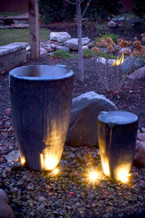 Outdoor Water Fountains With Lights Water Features