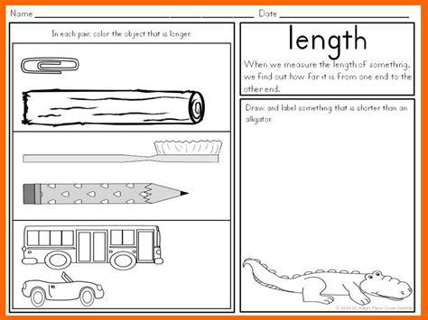 measurement activities kindergarten math anchor charts
