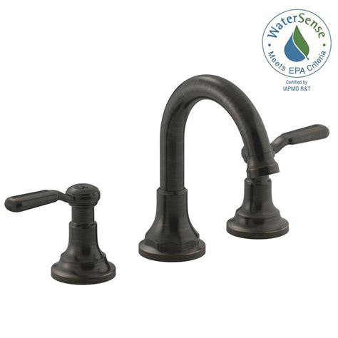 bronze faucets bathroom kohler worth 8 in 2 handle widespread bathroom faucet in rubbed bronze k r76257 4d 2bz