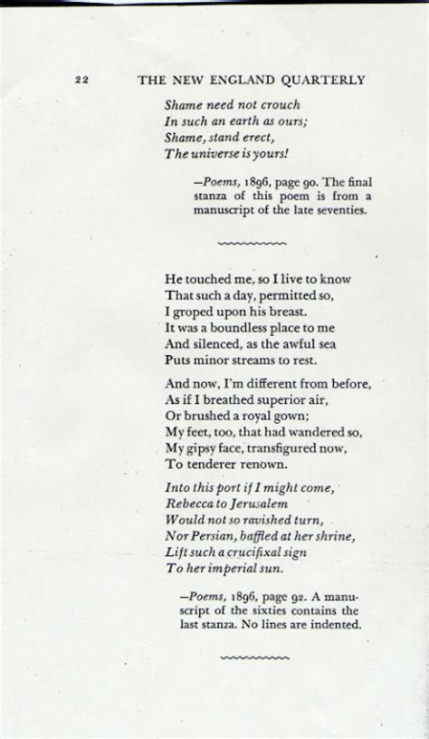 six line sonnet section quot he touched me quot and other poems
