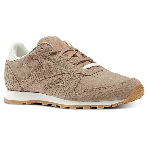 Classic Leather by Reebok Classic Leather Clean Exotics Brown Reebok Us