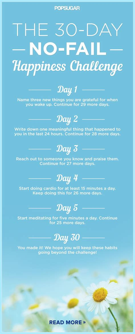 30 day positivity challenge the 30 day no fail happiness challenge workout