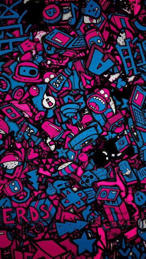 sticker bomb kertas dinding abstrak seni