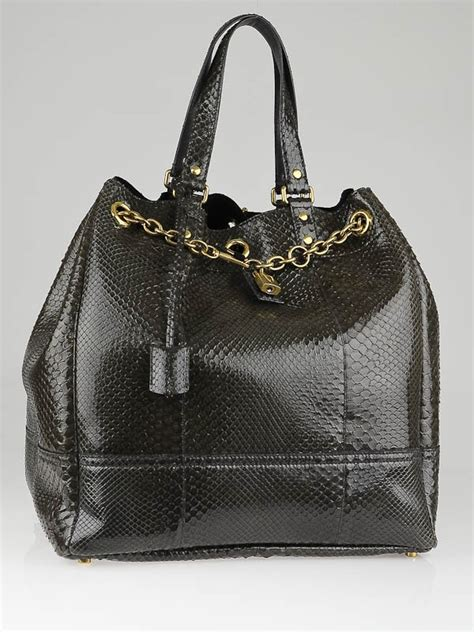Allens Ysl Overseas Bag by Yves Laurent Olive Python Overseas Large Tote Bag