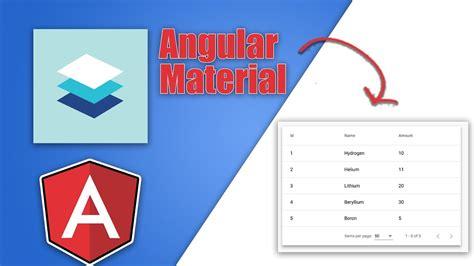 r data table tutorial angular material data table tutorial