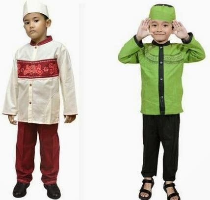 Baju Pesta Anak Keren gambar busana muslim anak laki laki modis model baju batik