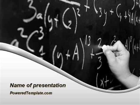 Mathematics Formulas Powerpoint Template By Poweredtemplate Com Youtube Math Powerpoint Templates