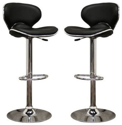 Black Kitchen Bar Stools Black Faux Leather Modern Bar Stool Bar Stools And